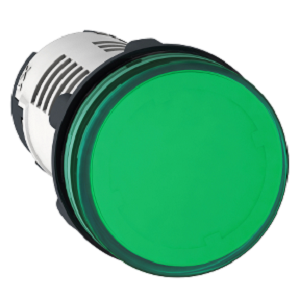 XB7EV03BP,ROUND PILOT LIGHT DIAM 22 IP 65 GREEN IN