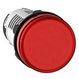 XB7EV04BP,ROUND PILOT LIGHT DIAM 22 IP 65 RED INTE