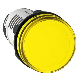 XB7EV65P,ROUND PILOT LIGHT DIAM 22 IP 65 YELLOW B